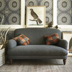Braemar 2 Seater Sofa in Winter Check - Braemar Collection - Sofa Collections - Furniture
