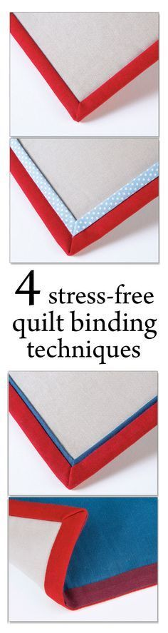 Learn to create and apply four styles of binding from one template. This acrylic color-coded template is easily marked to sew traditional, flange, mock piping and reversible binding without needing to measure. Simply align fabric and cut - Creative Quilt Quilting For Beginners, Quilting Tips, Quilting Tutorials, Machine Quilting, Quilting Projects, Quilting Designs, Sewing Projects, Beginner Quilting, Patchwork Quilting