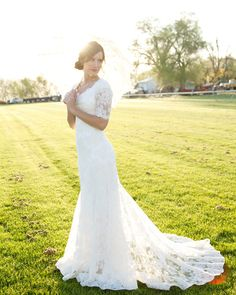 Sheer Lace - Modest Wedding Gown