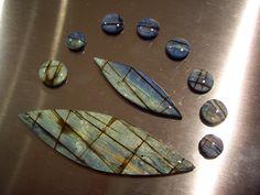 Sue Fisher's version of PcT Faux Labradorite Tutorial http://www.beadsandbeading.com/blog/faux-labradorite-polymer-clay-tutorials-vol-057/16619/