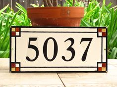 Custom Outdoor House Numbers Tile CRAFTSMAN Style by cmbstudio Girls Bedroom, Diy Baby Gym, Diy Kids Teepee, Tile House Numbers, Diy Gifts For Him, Craftsman Style Homes, Tile Art, Tiles, Address Plaque