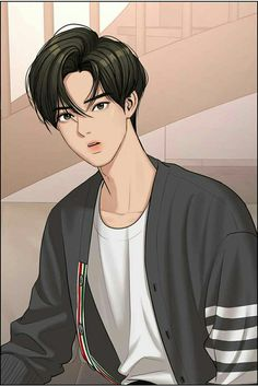 Suho, Anime Korea, Korean Anime, Kpop Drawings, Anime Couples Drawings, Angel Aesthetic, Korean Aesthetic, Pretty Anime Girl, Cute Anime Guys