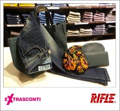 #Skinny #denim #trousers / #Jeans super skinny - #Rifle  #Original: 71,50€ #Outlet #price: 49,90 #EXTRASCONTI: 34,50€ #Bag / #Borsa - Rifle  Original: 71,50€ Outlet; 49,90€ EXTRASCONTI price: 34,50€ #Wallet / #Portafogli Original: 36,00€ Outlet: 19,90€ EXTRASCONTI:13,50€ #Pochette  Original: 43,00€ Outlet: 24,90€ EXTRASCONTI: 17,00€ #Foulard / #Pashmina  Original: 40,00€ Outlet: 27,90€ EXTRASCONTI: 13,50€ #Available at Rifle - #store number 4…