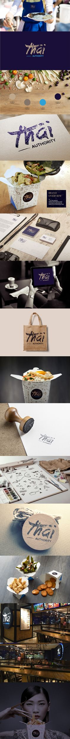 Awesome branding project from Thai Authority Restaurant on Behance by Agata Dondzik. #branding
