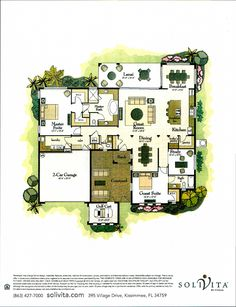 The Majestic Palm Collection Clearwater Floor Plan in Solivita, Kissimmee FL