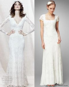 Sleek wedding dress-love the one on the left