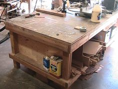Steve Ramsey's Workbench or as my kids and I call it - the Mega Workbench!!!