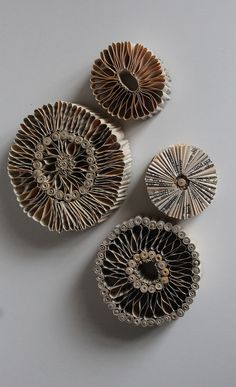who: julie dodd Why: i like the paper quills and how they frame the paper sculptures Book Crafts, Arts And Crafts, Paper Crafts, Arte Quilling, Cardboard Art, A Level Art, Co Working, Natural Forms, Sculpture Art