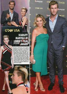 Scarlett Johanson wearing SS15 dress, HELLO magazine