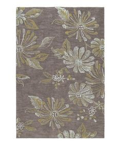 Take a look at this Brown Inspire Rug by Kaleen on #zulily today!