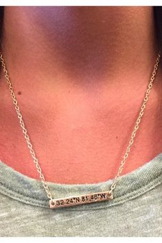 Georgia Southern Paulson Stadium Coordinate Necklace- Gold  $16.95