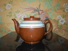 Sadler Teapot Made in Staffordshire England Brown by SETXTreasures