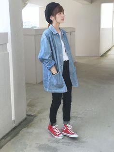 最近購入した古着のjcrewのデニムシャツがとても気に入っています✨  いつも見て下さり本当にありがとうございます  Twitter @mai_askr Instagram @maiasakura