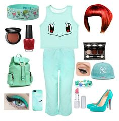 """""""Poke Ball Fashion - Squirtle Edition by Meg McD"""" by michelle-durham-odo on Polyvore featuring M&Co, Vincent Longo, Bobbi Brown Cosmetics, OPI, Casetify, New Era, Dasein, LORAC, HoneyBee Gardens and Christian Louboutin"""