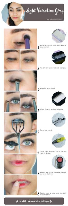 tuto light valentine grey makeup