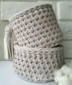 Crochet Bedspread Pattern, Crochet Basket Pattern, Crochet Stitches Patterns, Crochet Designs, Crochet Basket Tutorial, Owl Patterns, Crochet Bag Tutorials, Crochet Instructions, Crochet Videos