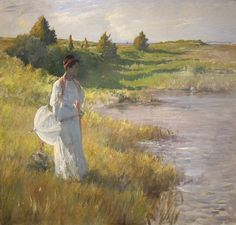 An Afternoon Stroll - William Merritt Chase - (American: 1849-1916)