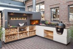 On the off chance that you are contemplating pitching your home or simply need to make a few enhancements a summer kitchen is an incredible method to do both. Including a summer kitchen isn't troublesome and the cost can expand… Continue Reading → Outdoor Bbq Kitchen, Backyard Kitchen, Summer Kitchen, Outdoor Kitchen Design, Outdoor Cooking, Kitchen Decor, Kitchen Ideas, Outdoor Kitchens, Outdoor Barbeque