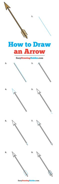 Learn How to Draw an Arrow: Easy Step-by-Step Drawing Tutorial for Kids and Beginners. #Arrow #DrawingTutorial #EasyDrawing See the full tutorial at https://easydrawingguides.com/how-to-draw-an-arrow/.