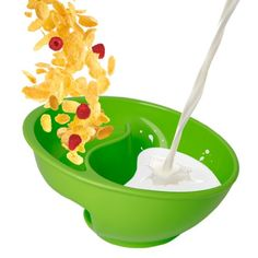 Obol - The Original Never Soggy Cereal Bowl / With The Spiral Slide Design 'N Grip - Lg Green, 2015 Amazon Top Rated Cereal Bowls #Kitchen