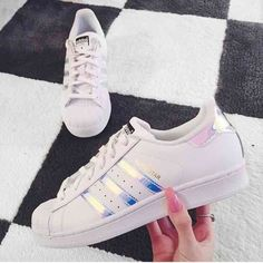 Hot Superstar originals hologram white black shoes Firm on price. These will fit women's 5