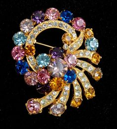 Colorful Eisenberg Brooch