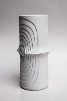 Ceramics  : Vintage German Op Art Vase  KPM