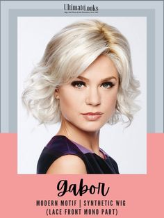 This classic bob is modernized with textured waves. An eyelash bang graces the front to add an air of flirtation, while softly layered lengths throughout offer fullness and movement. #hairstyles #hairdo #hairoftheday #styleinspo #styles #styleoftheday #stylegram Oblong Face Shape, Gabor Wigs, Classic Bob, Synthetic Lace Wigs, How To Lighten Hair, Hairline, Natural Looks, Face Shapes, Lace Front Wigs