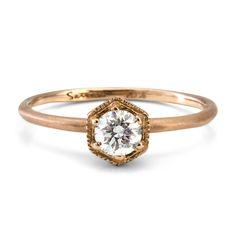 Hexagon Diamond Ring // Satomi Kawakita Jewelry