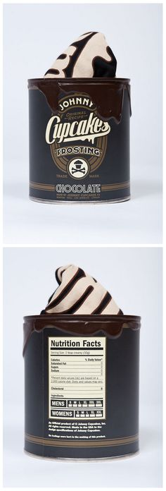 Johnny Chocolate Cupcakes -- #JohnnyCupcakes always nails it with their branding and packaging
