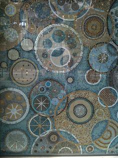 Mosaique abstract circles mosaic