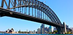 Sydney Harbour Bridge, City Skyline and Opera House - New South Wales