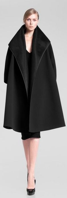 Donna Karan Pre Fall 2013 black oversize coat #minimalist #fashion #style