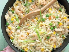 Egg fried rice with chicken, prawns and vegetables makes a complete meal, and rice recipes are generally very popular with children of all ages. It