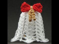 En este video realizaremos una hermosa Campana de Navidad en Crochet. Un complemento que podemos usar para nuestro arbolito de Navidad, o como adorno para nu...