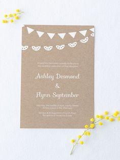 Free wedding invitation printable