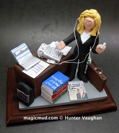 Businesswomen Wife Christmas Gift    by www.magicmud.com 1 800 231 9814 creating a custom made gift figurine for any woman based on the things she likes to do! ...incorporating her work, sports, family, hobbies, food, drink, shopping, etc.   $225 #vet #veterinarian #mom #mother #momsgift #wife #christmas #birthday #anniversary #custom #personalized #xmas #present #award #ChristmasGift #BirthdayGift #sister #girlfriend #aunt #BFF