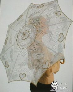 Magic crochet № 148 - Edivana - Picasa Web Albums Crochet Cross, Filet Crochet, Irish Crochet, Crochet Doilies, Crochet Lace, Crochet Style, Lace Umbrella, Crotchet Patterns, Umbrellas Parasols