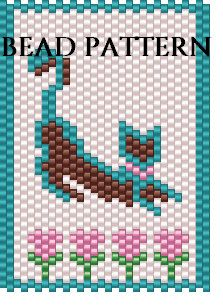 Bead Pattern EVEN COUNT PEYOTE STITCH PATTERN FOR CAT CHARM 1 Purchase includes : Bead Legend Word Chart Color Graph  Stitch instructions are not included. Knowledge of peyote stitch is required. This pattern will make a cute cat charm that measures 2 1/8 inches high and 1 1/2 inches wide. The pattern uses 5 colors of Delica size 11 beads. The colors are DB 793 Matte Opaque Turquoise, DB 201 Pearl White, DB 246 Dark Pink, DB 163 Opaque Green AB, and DB 735 Opaque Dusty Plum.  Custom...