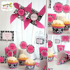 COMPLETE PERSONALIZED PARTY with banner Damask by mbradleydesigns,