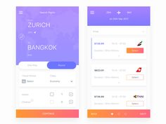 Hey dribbblers, here are 2 screens from the flight booking app we are working on. The app allows the users to find all possible flights and to choose the most convenient one with less clicks.  We w...