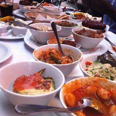 Greek meze the best way to eat Greek food! Greek Meze, Greek Appetizers, Greek Cheese, Eat Greek, Grilled Octopus, Eggplant Salad, Fava Beans, Fried Vegetables, Stone