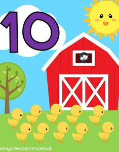 Learning Numbers, Math Numbers, Farm Animal Crafts, Farm Animals, Classroom Calendar, Classroom Decor, Educational Activities For Kids, Teaching Kids, Preschool
