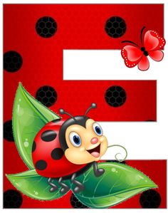 Monogram Letters, Letters And Numbers, Lady Bug, School Border, Ladybug Art, School Frame, Clip Art Pictures, Painting For Kids, Miraculous Ladybug