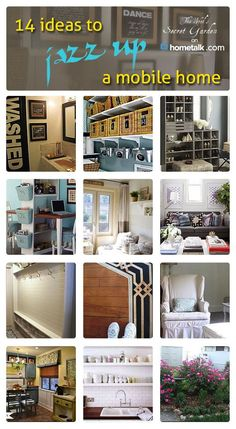 Check out these 14 incredible ideas that are sure to jazz up your mobile home - or any small space!.