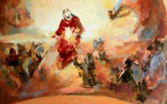 """www.ruizanglada.es https://www.facebook.com/ruizanglada.pintura  Ruizanglada (1929-2001). Detalle de """"Virgen 72x84cm"""". Años 90."""