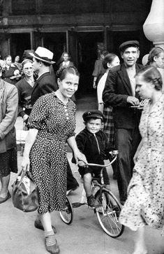 First Bike, Moscow, USSR, 1954. Henri Cartier-Bresson was the first Western photographer to be admitted to the Soviet Union after the death of Josef Stalin, in 1953.
