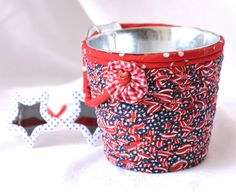 Wexford Treasures: Cute Patriotic Utensil Holder I handmade this fun Red White and Blue Napkin Holder by WexfordTreasures