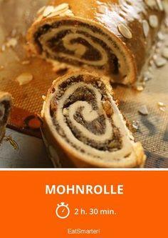 Mohnrolle - smarter - Zeit: 2 Std. 30 Min. | eatsmarter.de German Baking, Strudel, Eat Smarter, Vegan Recipes, Vegan Food, Nutella, Food And Drink, Cookies, Cake