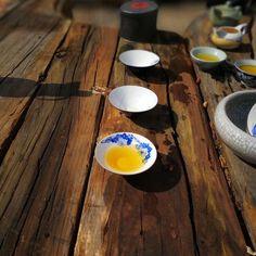 Sunshine, nature, and tea! Love it! Fenghuang Dancong Oolong Tea.
